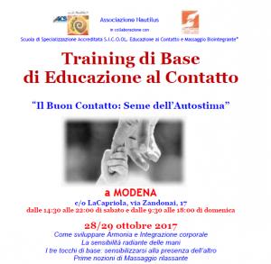MODENA, TRAINING DI BASE DI EDUCAZIONE AL CONTATTO @ LaCapriola