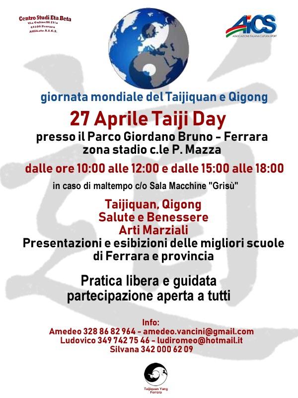 World Taiji Day 2019 Edizione Di Ferrara Aics Emilia Romagna