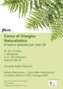 BOLOGNA, Corso di Disegno Naturalistico @ Casa delle Associazioni al Baraccano, in via Santo Stefano 119/2, Bologna