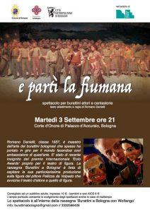 E partì la fiumana - spettacolo di burattini attori e cantastorie @ Corte d'Onore di Palazzo d'Accursio, Bologna